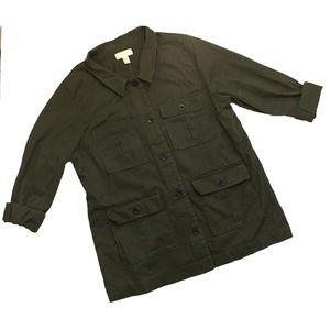 Forever 21 Jackets & Coats - Forever 21 Plus olive army utility jacket 219